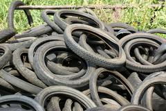 Tires garbage - stock photo