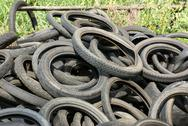 Stock Photo of Tires garbage