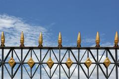 Stock Photo of Top of fence