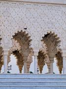 the mausoleum of mohammed v in rabat - stock photo