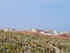 as-shouhada cemetery in rabat - stock photo