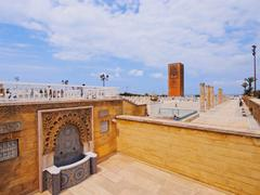 hassan tower in rabat, morocco - stock photo