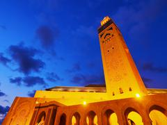 hassan ii mosque in casablanca - stock photo