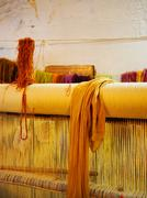 moroccan threads in rabat - stock photo