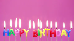 Blowing  out  birthday  candles Stock Footage