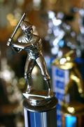 Vintage Silver Baseball Award Trophy Kuvituskuvat