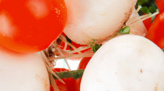 White mushroom and cherry Stock Footage