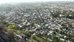 Osh, city, Kyrgyz hats, men, tourism Stock Footage