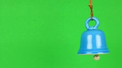 Blue bell swinging in loop Stock Footage