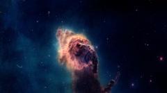 Exposure Galaxy supernova Astronomy Nebula Stars Sky Space Universe - stock footage