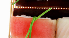 Stock Video Footage of Japanese Traditional Cuisine : Different Types of Nigiri Sushi