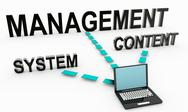 Stock Illustration of content management system