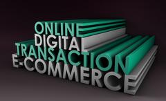 online digital transaction - stock illustration