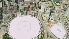 Aerial view BC Place Stadium, Vancouver Stock Footage