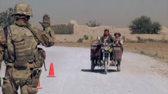 Afghanistan - Checkpoint 01 - stock footage