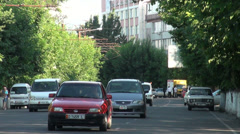 Traffic in Osh, Kyrgyzstan Stock Footage