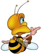 Sitting Wasp Stock Illustration