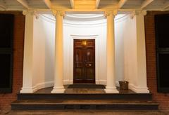 mahogany doorway and entrance hall uva - stock photo