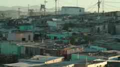Khayaletsha Township/shacks Stock Footage