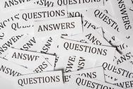 Stock Illustration of questions and answers