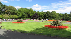St Stephens Green 5 Stock Footage