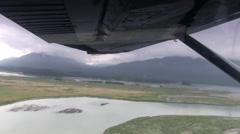 Alaskan Bush Pilot, flying low Stock Footage