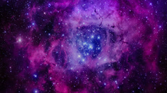 Exposure Galaxy supernova Astronomy Nebula Stars Sky Space Universe Stock Footage