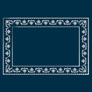 simple silver frame - stock illustration