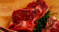 Raw meat : boned fresh ribs Stock Footage