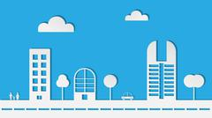 Abstract Paper City in Vector Stock Illustration