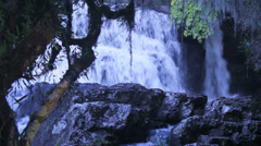 Bottom of waterfall in Jaquirana Brazil Stock Footage