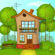 Vector Illustration of Cartoon House Stock Illustration