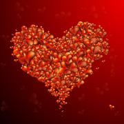 Collection of Beautiful, Vector Hearts - stock illustration