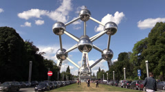 Atomium time-lapse on sunny day Stock Footage