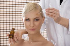 Beauty treatment from nurse Stock Photos