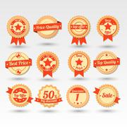 Collection of Sale Emblems in Vector - stock illustration