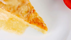 food : cheese casserole piece - stock footage