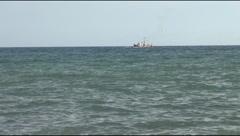 Seiner, cutter, sea Stock Footage