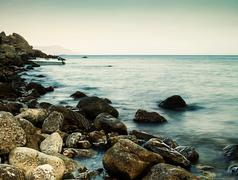 Sleeping sea, abstract natural landscape for your design Stock Photos