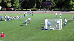 Goalkeeper save the gate Stock Footage