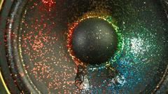 Glitter Twinkle on LoudSpeaker in Loop - stock footage