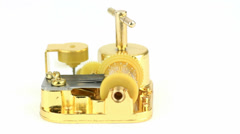 Golden MusicBox isolated Stock Footage