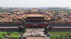 The forbidden city,Beijing Stock Footage