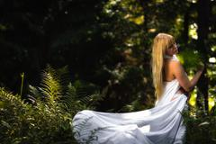 fairy like woman - stock photo