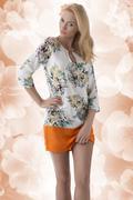 Sensual girl with short summer dress Stock Photos