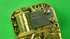 Gold MusicBox Top View Macro Stock Footage