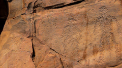 Ancient rock paintings of Khakassia - stock footage