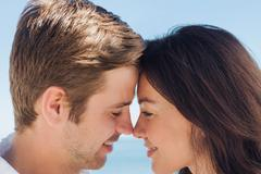 Stock Photo of Close up view of romantic couple