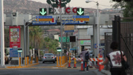 Stock Video Footage of Border Crossing US-Mexico, Tecate Mexico