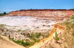 Sand quarry Stock Photos